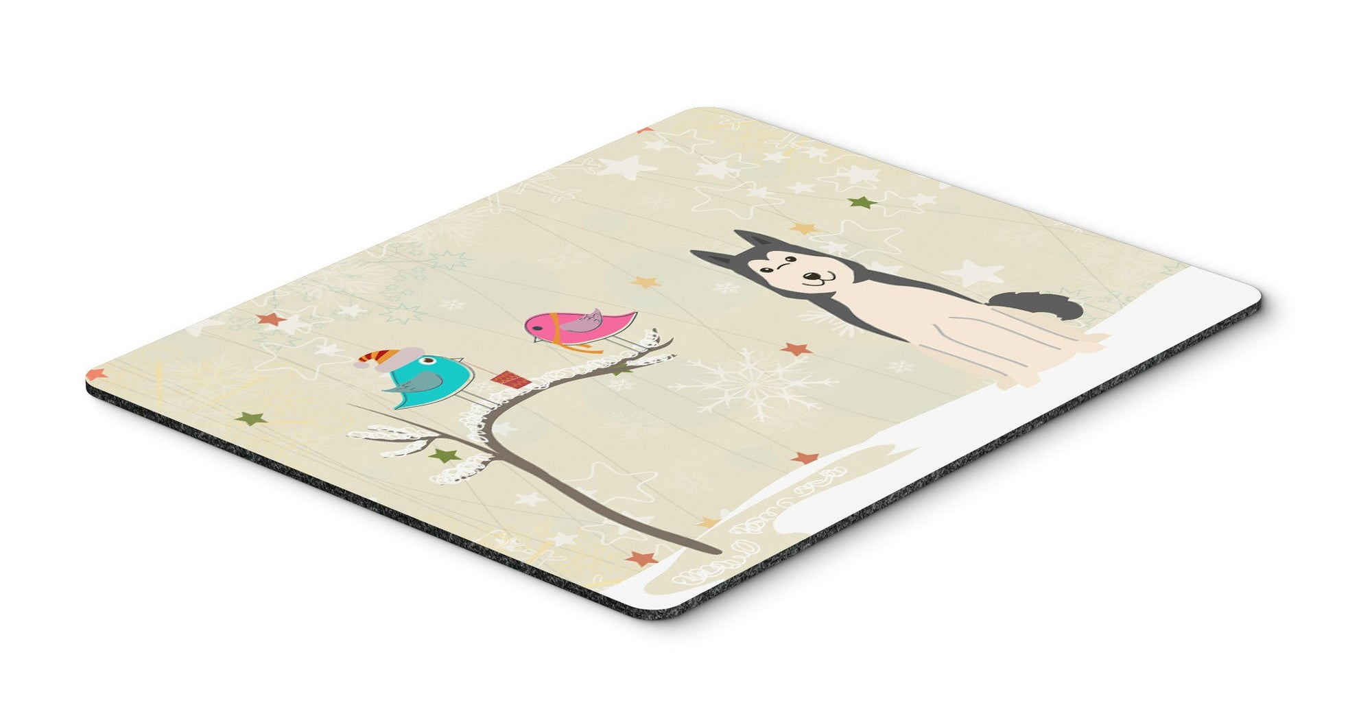 Christmas Presents between Friends West Siberian Laika Spitz Mouse Pad, Hot Pad or Trivet BB2497MP - the-store.com