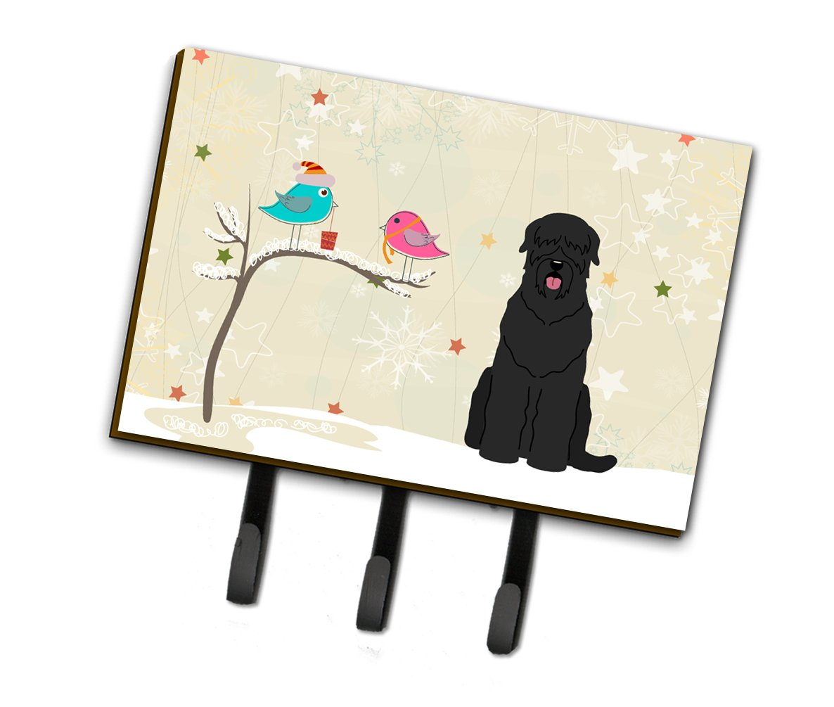 Buy this Christmas Presents between Friends Black Russian Terrier Leash or Key Holder BB2498TH68