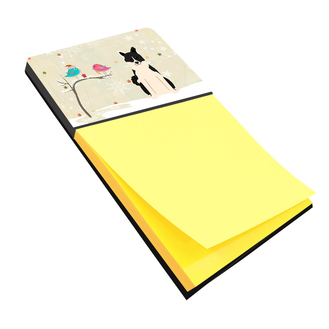 Christmas Presents between Friends Russo-European Laika Spitz Sticky Note Holder BB2501SN by Caroline's Treasures