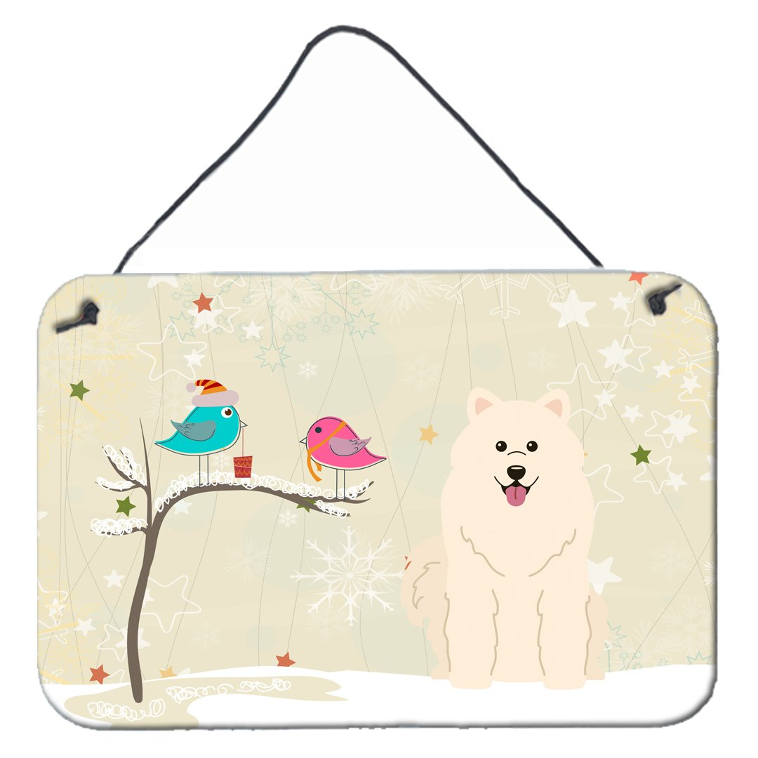 Buy this Christmas Presents between Friends Samoyed Wall or Door Hanging Prints BB2502DS812