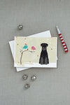 Christmas Presents between Friends Schnauzer - Black Greeting Cards and Envelopes Pack of 8 - the-store.com