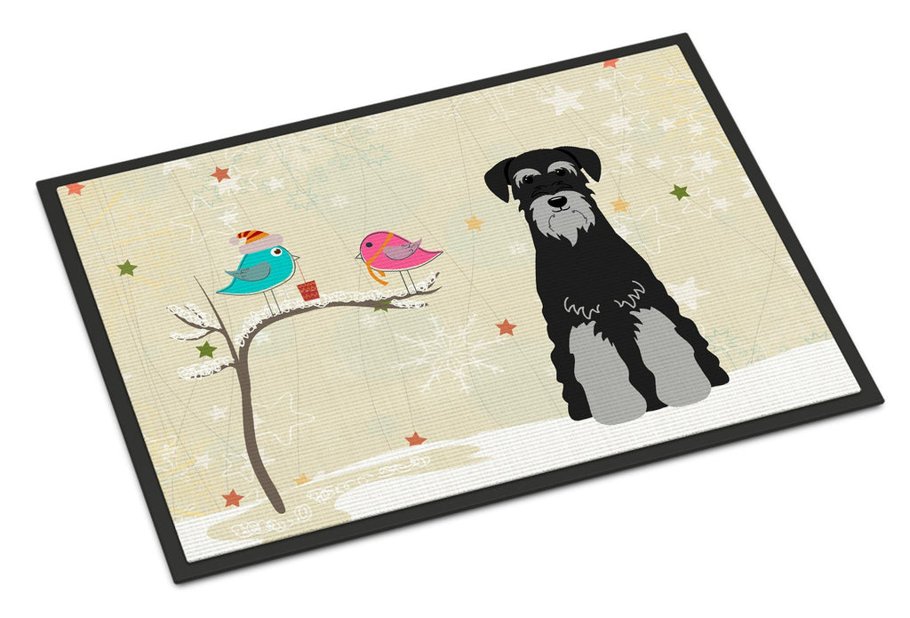 Buy this Christmas Presents between Friends Standard Schnauzer Black Grey Indoor or Outdoor Mat 18x27 BB2506MAT