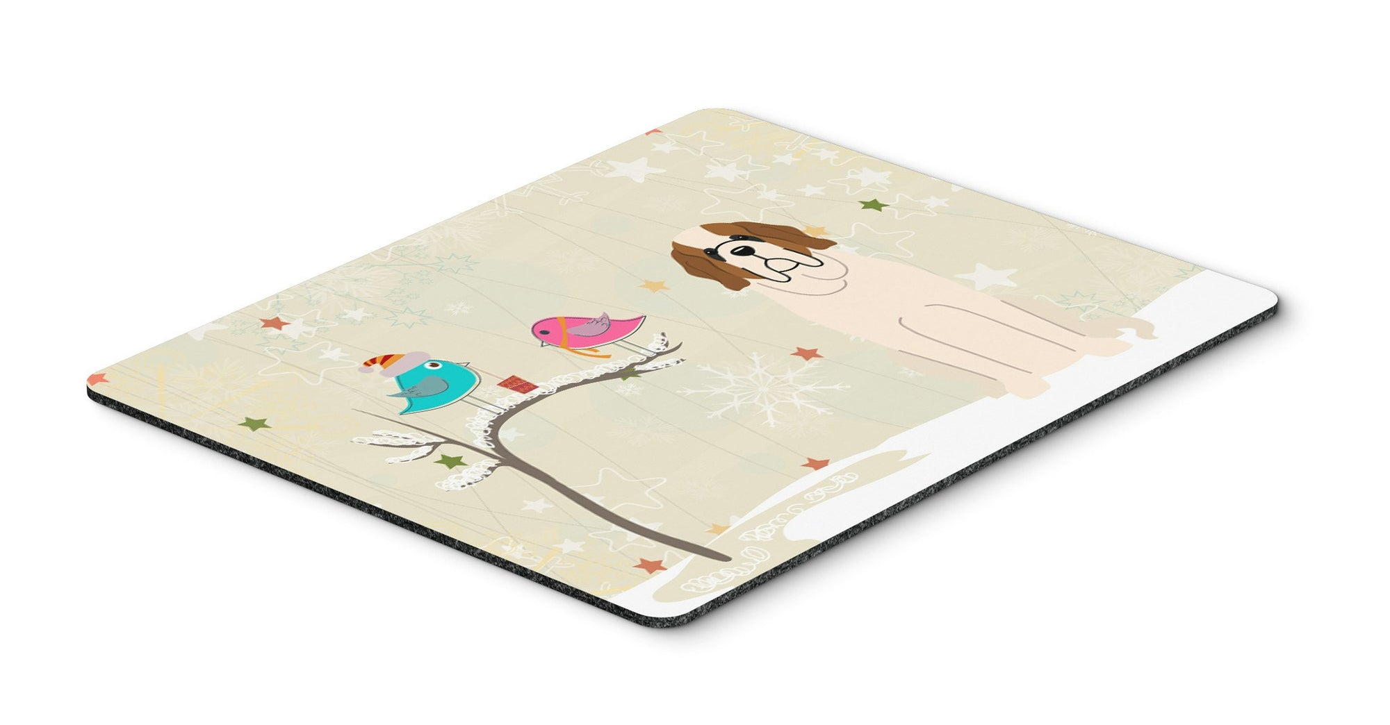 Christmas Presents between Friends Saint Bernard Mouse Pad, Hot Pad or Trivet BB2507MP by Caroline's Treasures