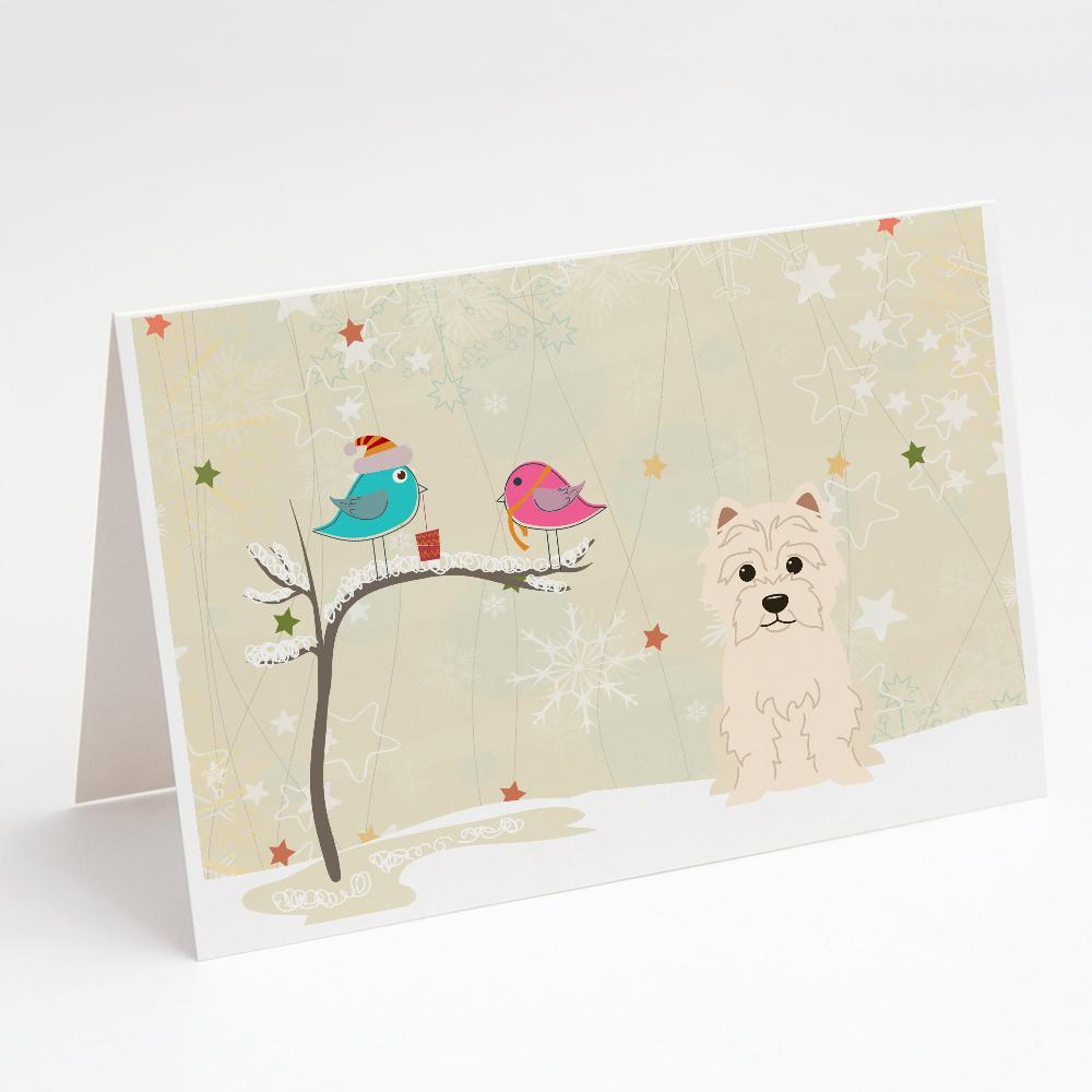 Buy this Christmas Presents between Friends West Highland White Terrier Greeting Cards and Envelopes Pack of 8