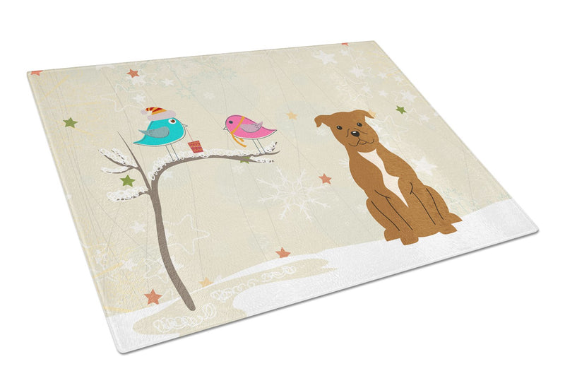 Buy this Staffordshire Bull Terrier Brown Glass Cutting Board Large BB2519LCB
