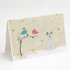 Buy this Christmas Presents between Friends Schnauzer - White Greeting Cards and Envelopes Pack of 8