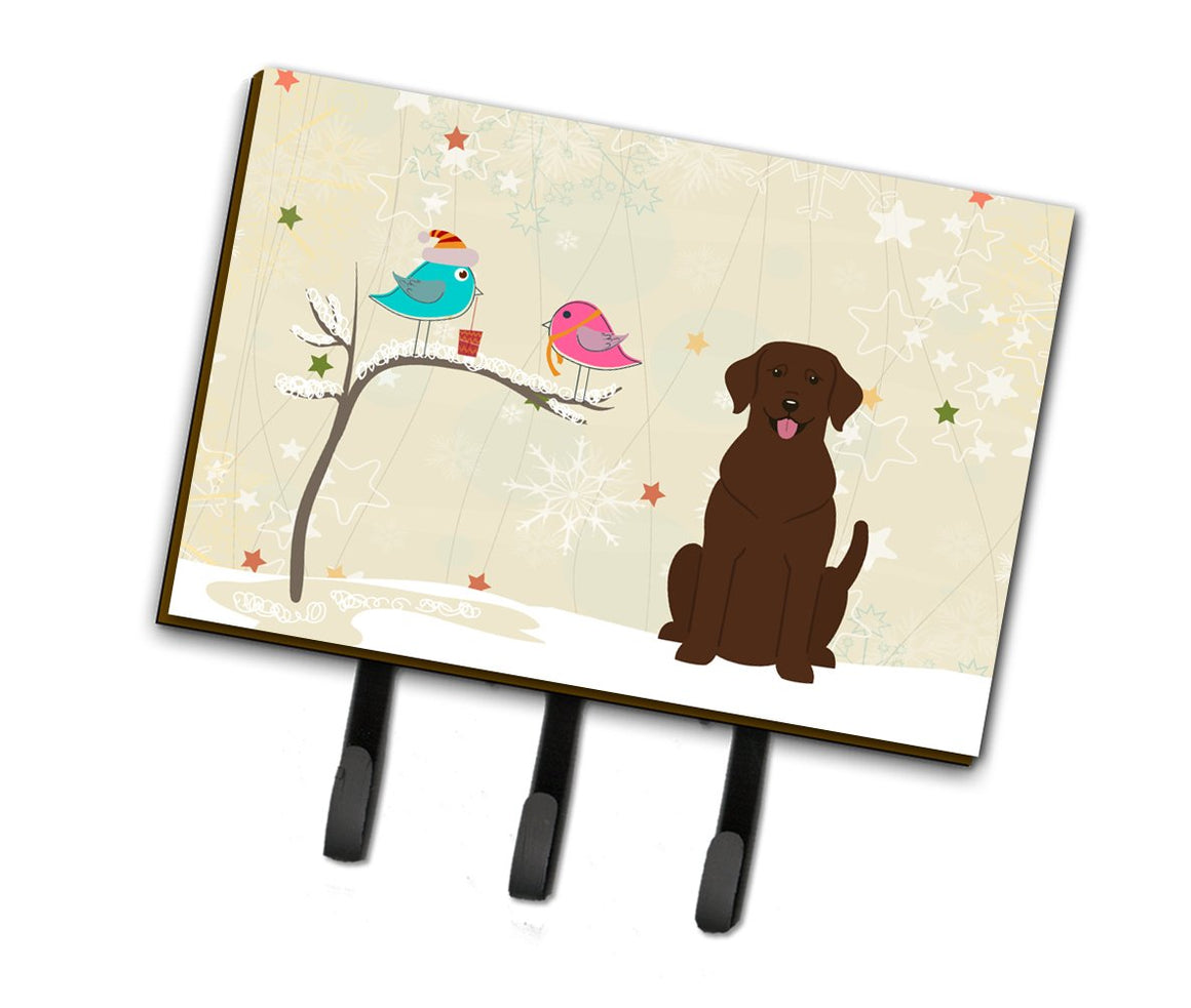 Buy this Christmas Presents between Friends Chocolate Labrador Leash or Key Holder BB2528TH68