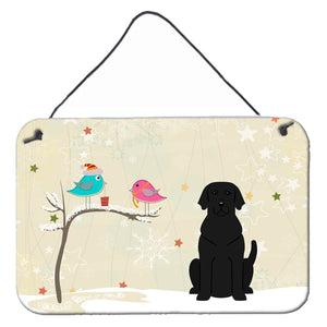 Buy this Christmas Presents between Friends Black Labrador Wall or Door Hanging Prints BB2529DS812
