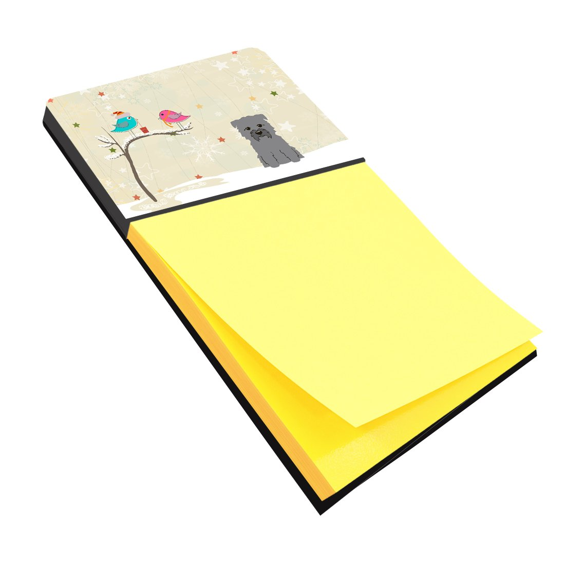 Christmas Presents between Friends Glen of Imal Grey Sticky Note Holder BB2531SN by Caroline's Treasures