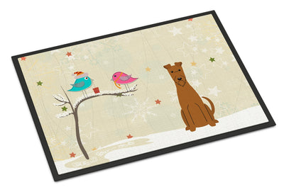 Christmas Presents between Friends Irish Terrier Indoor or Outdoor Mat 24x36 BB2534JMAT - the-store.com