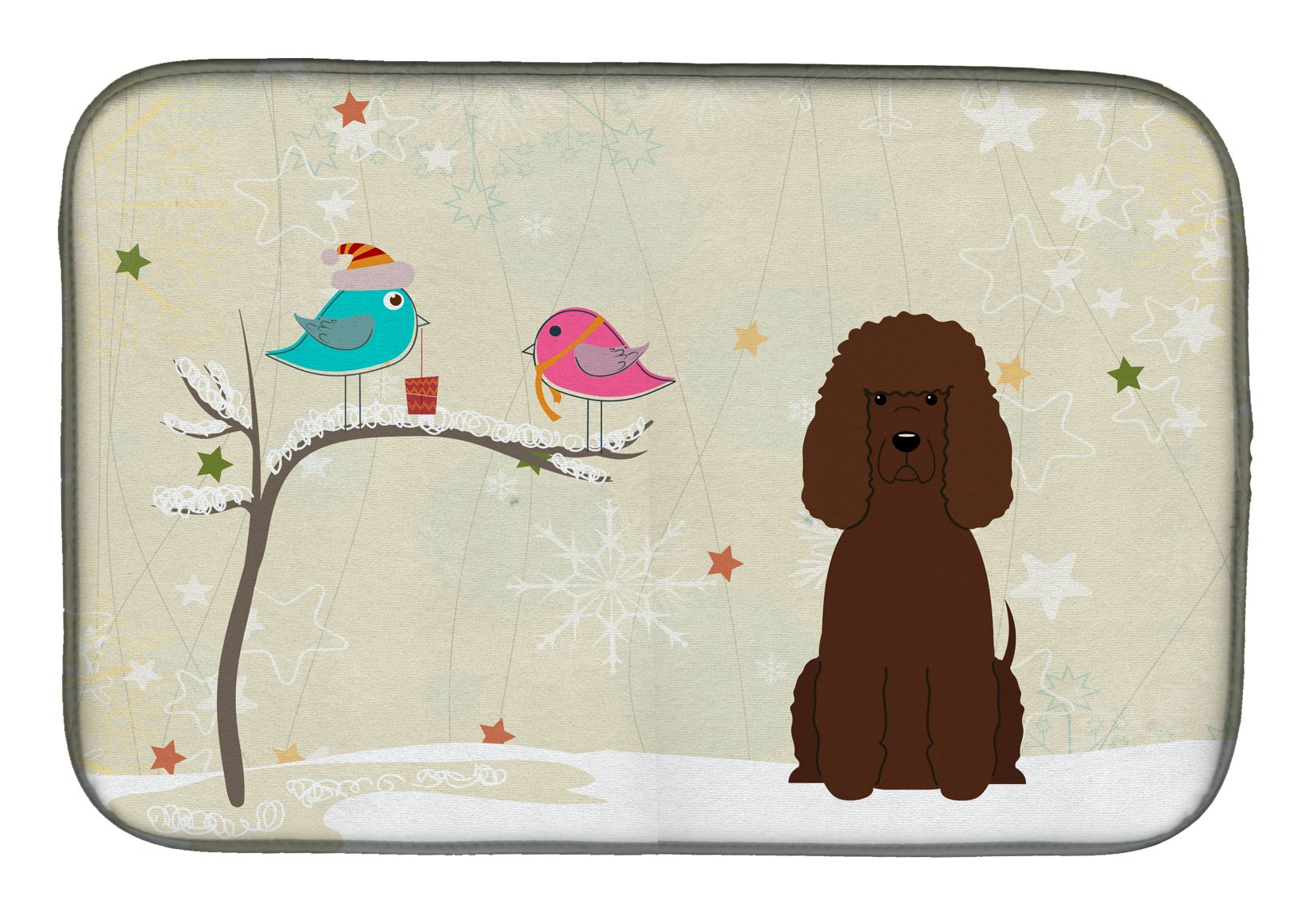 Buy this Christmas Presents between Friends Irish Water Spaniel Dish Drying Mat BB2535DDM