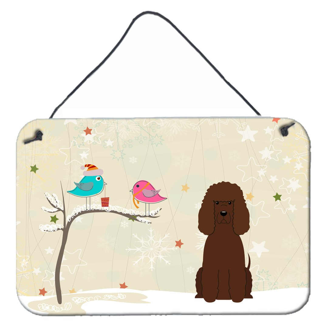 Buy this Christmas Presents between Friends Irish Water Spaniel Wall or Door Hanging Prints BB2535DS812