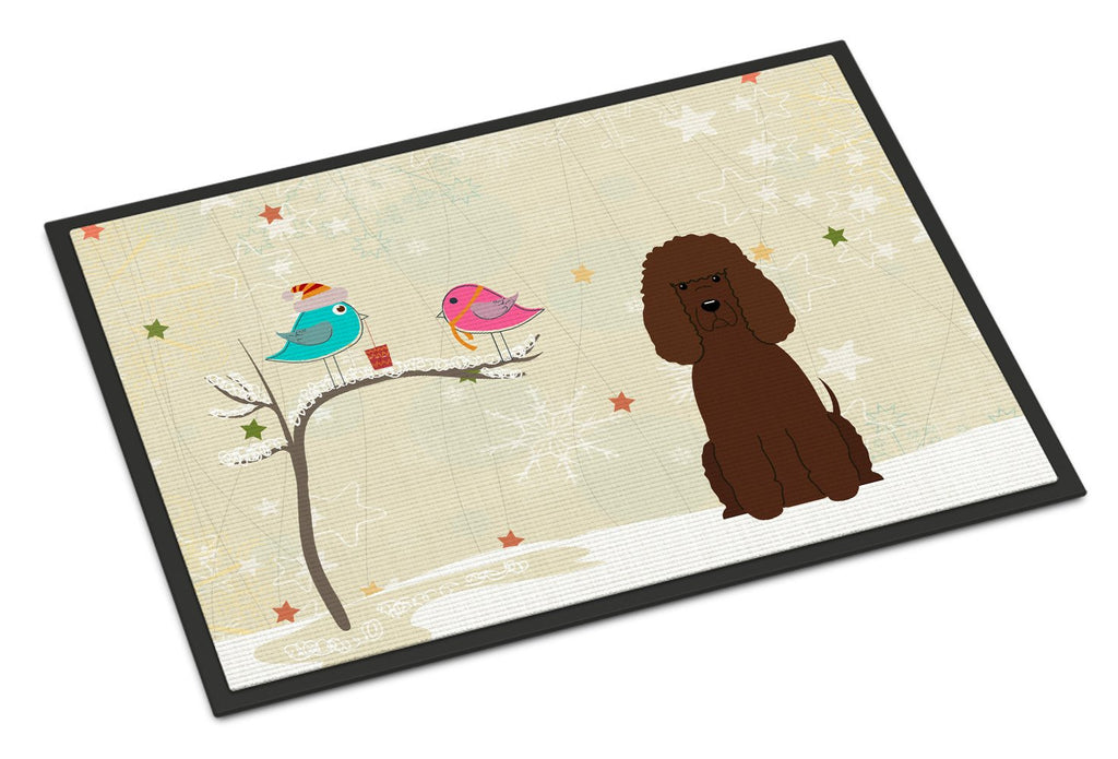 Buy this Christmas Presents between Friends Irish Water Spaniel Indoor or Outdoor Mat 24x36 BB2535JMAT