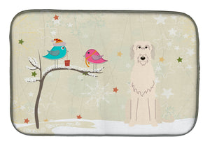 Buy this Christmas Presents between Friends Irish Wolfhound Dish Drying Mat BB2537DDM