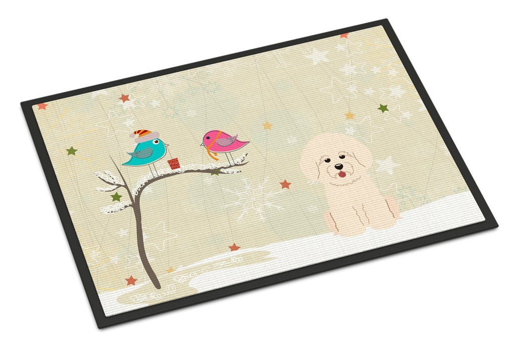Buy this Christmas Presents between Friends Bichon Frise Indoor or Outdoor Mat 24x36 BB2547JMAT