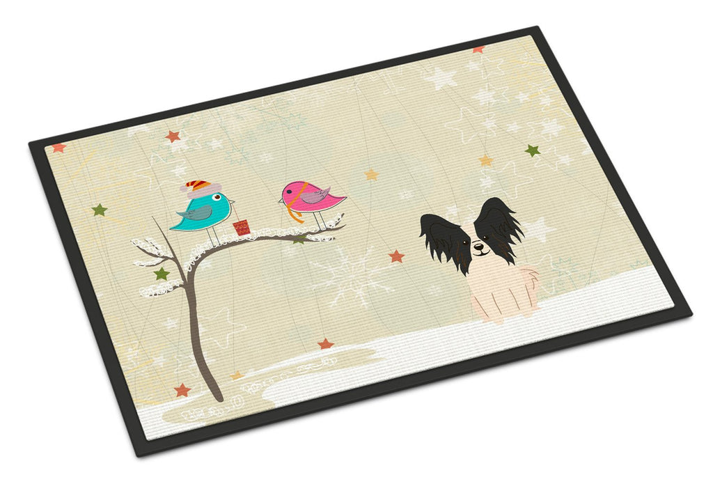 Buy this Christmas Presents between Friends Papillon Black White Indoor or Outdoor Mat 24x36 BB2548JMAT