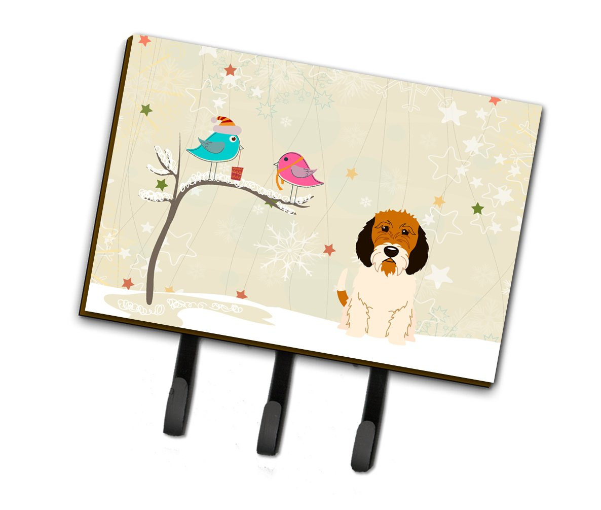 Christmas Presents between Friends Petit Basset Griffon Veenden Leash or Key Holder BB2551TH68 by Caroline's Treasures