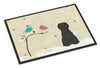 Christmas Presents between Friends Briard Black Indoor or Outdoor Mat 24x36 BB2553JMAT by Caroline's Treasures