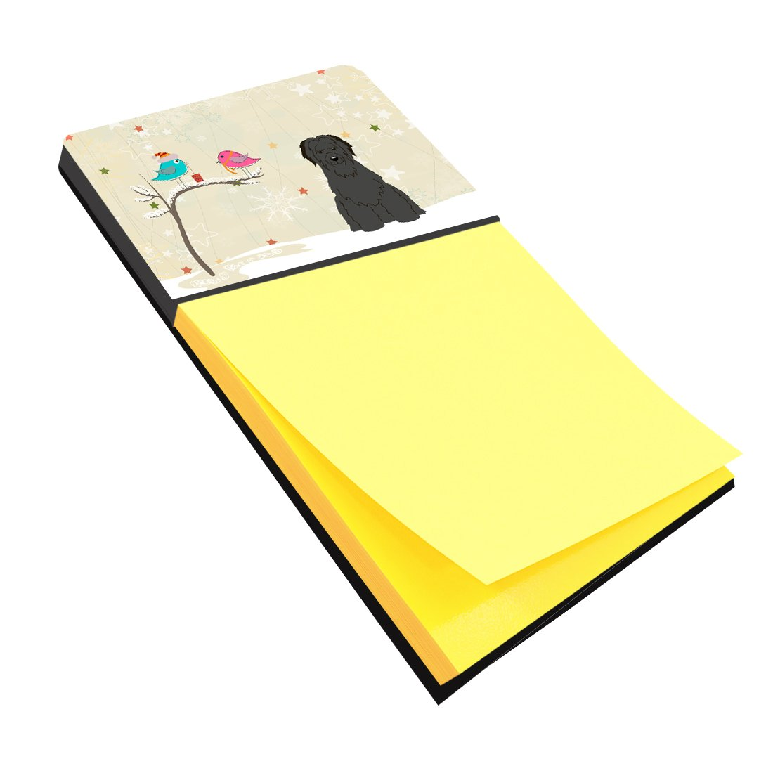 Buy this Christmas Presents between Friends Briard Black Sticky Note Holder BB2553SN