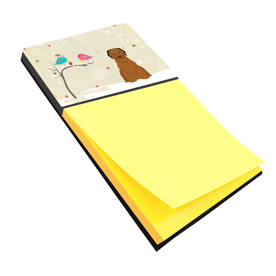 Buy this Christmas Presents between Friends Briard Brown Sticky Note Holder BB2554SN