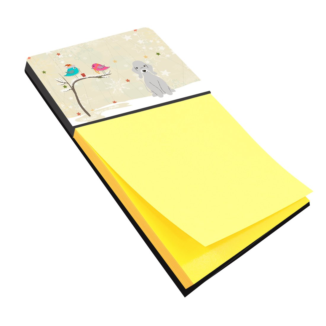 Buy this Christmas Presents between Friends Bedlington Terrier Blue Sticky Note Holder BB2562SN