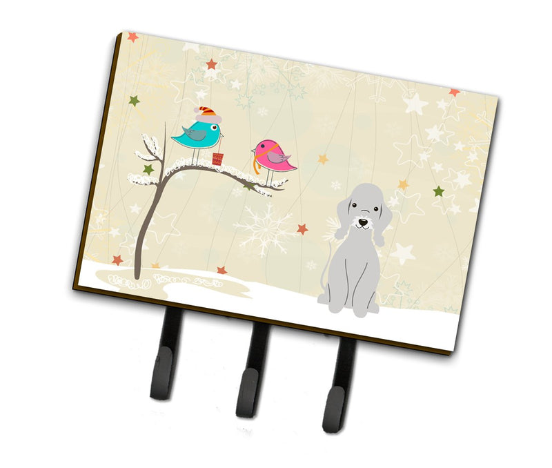 Buy this Christmas Presents between Friends Bedlington Terrier Blue Leash or Key Holder BB2562TH68