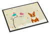 Christmas Presents between Friends Corgi Indoor or Outdoor Mat 24x36 BB2572JMAT - the-store.com