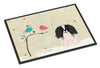 Christmas Presents between Friends Pekingnese Black White Indoor or Outdoor Mat 24x36 BB2577JMAT - the-store.com