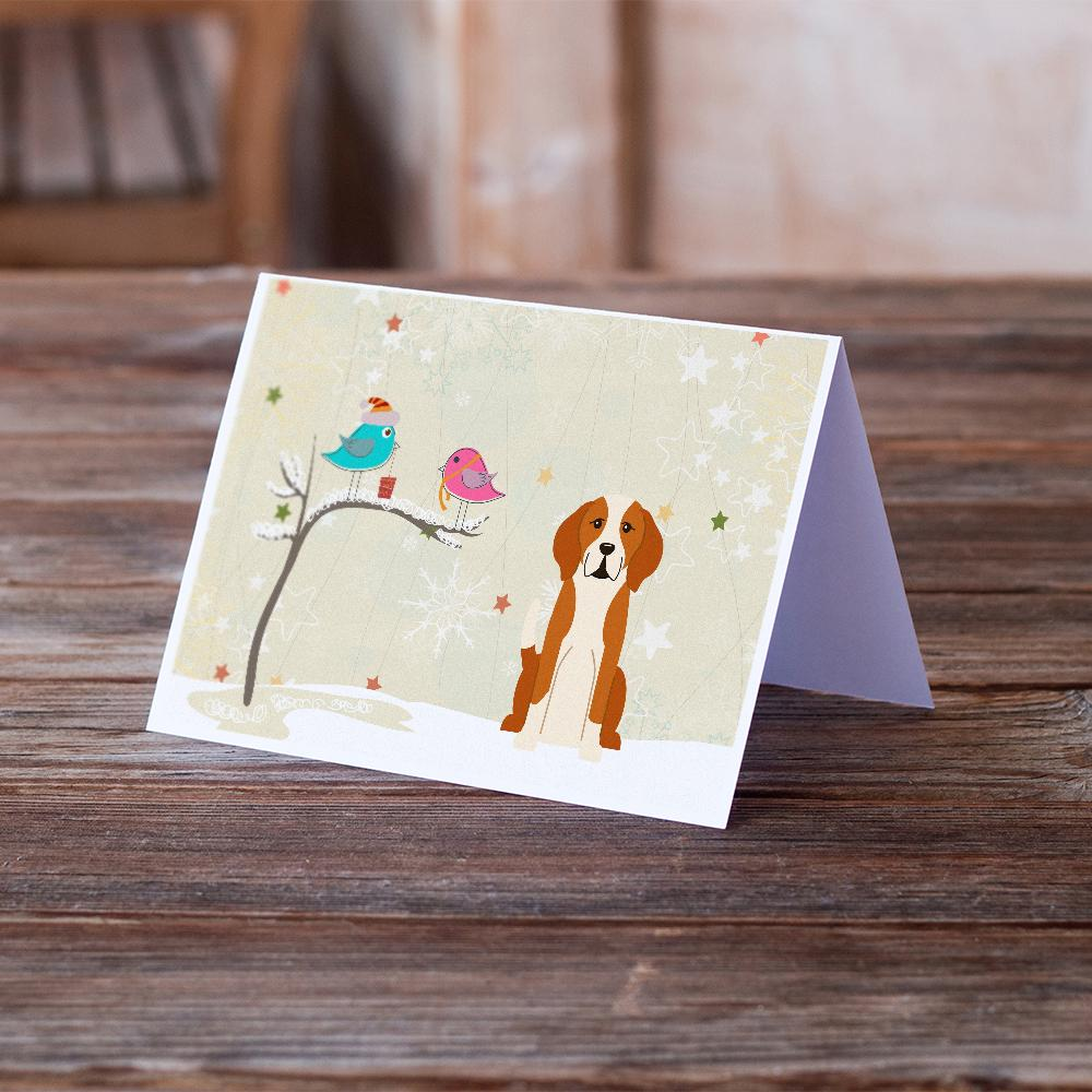 Buy this Christmas Presents between Friends English Foxhound Greeting Cards and Envelopes Pack of 8