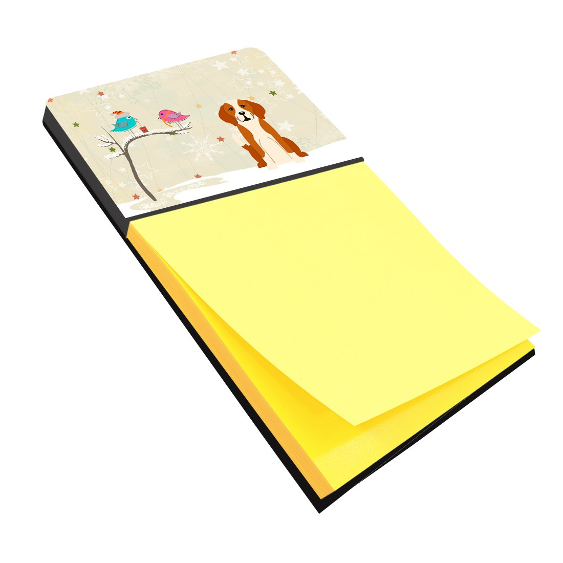 Christmas Presents between Friends English Foxhound Sticky Note Holder BB2582SN by Caroline's Treasures