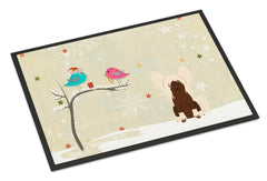 Buy this Christmas Presents between Friends Chinese Crested Cream Indoor or Outdoor Mat 24x36 BB2585JMAT