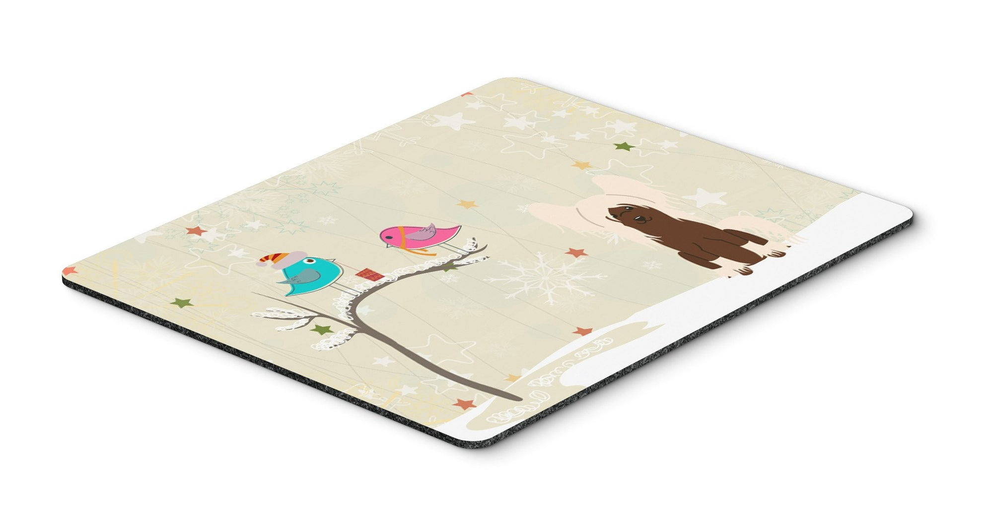 Christmas Presents between Friends Chinese Crested Cream Mouse Pad, Hot Pad or Trivet BB2585MP by Caroline's Treasures