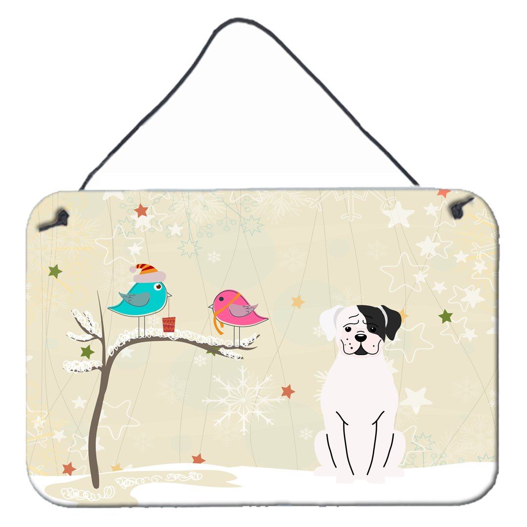 Buy this Christmas Presents between Friends White Boxer Cooper Wall or Door Hanging Prints BB2586DS812