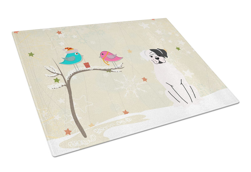 Buy this Christmas Presents between Friends White Boxer Cooper Glass Cutting Board Large BB2586LCB