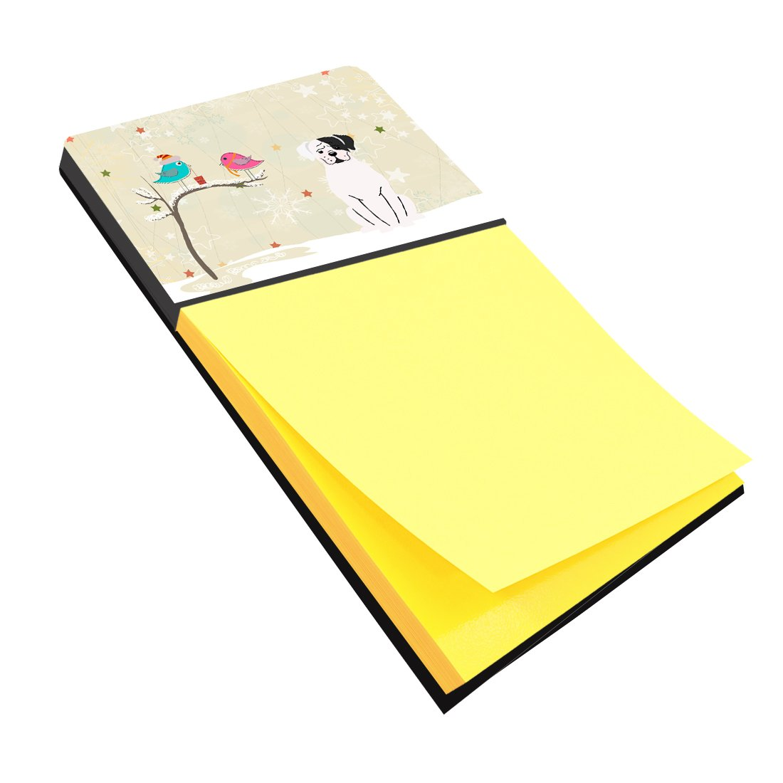 Buy this Christmas Presents between Friends White Boxer Cooper Sticky Note Holder BB2586SN