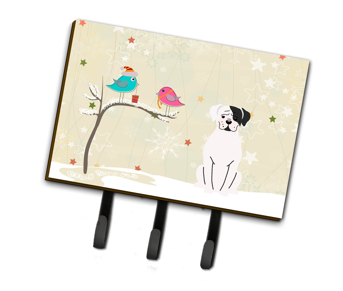 Buy this Christmas Presents between Friends White Boxer Cooper Leash or Key Holder BB2586TH68