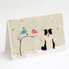 Buy this Christmas Presents between Friends Border Collie - Black and White Greeting Cards and Envelopes Pack of 8
