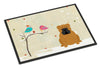 Christmas Presents between Friends English Bulldog Red Indoor or Outdoor Mat 24x36 BB2594JMAT by Caroline's Treasures