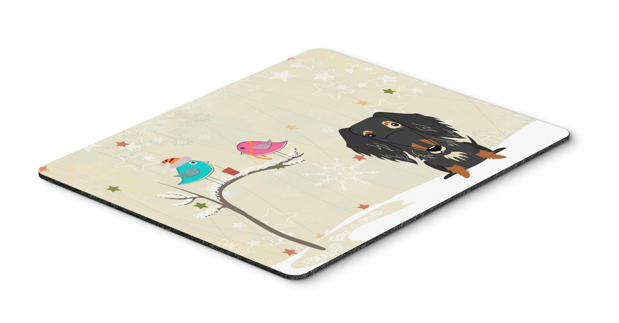 Christmas Presents between Friends Wire Haired Dachshund Dapple Mouse Pad, Hot Pad or Trivet BB2600MP - the-store.com