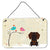 Buy this Christmas Presents between Friends Wire Haired Dachshund Chocolate Wall or Door Hanging Prints BB2601DS812