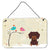 Buy this Christmas Presents between Friends Dachshund Chocolate Wall or Door Hanging Prints BB2603DS812