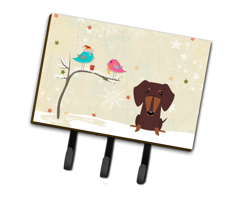 Buy this Christmas Presents between Friends Dachshund Chocolate Leash or Key Holder BB2603TH68