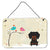 Buy this Christmas Presents between Friends Dachshund Black Tan Wall or Door Hanging Prints BB2604DS812