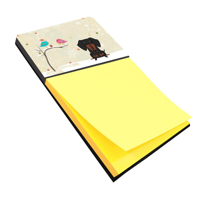 Buy this Christmas Presents between Friends Dachshund Black Tan Sticky Note Holder BB2604SN