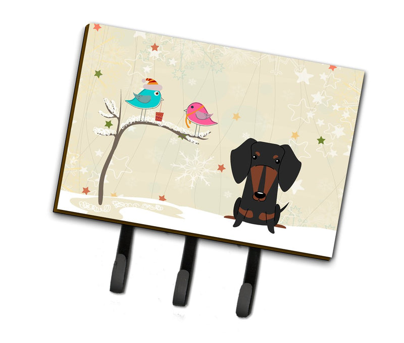 Buy this Christmas Presents between Friends Dachshund Black Tan Leash or Key Holder BB2604TH68