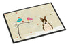Christmas Presents between Friends Bull Terrier Dark Brindle Indoor or Outdoor Mat 24x36 BB2608JMAT - the-store.com