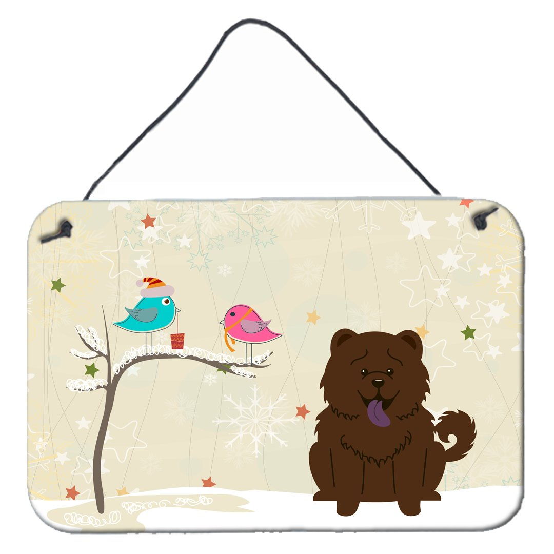 Christmas Presents between Friends Chow Chow Chocolate Wall or Door Hanging Prints BB2613DS812 by Caroline's Treasures