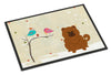 Christmas Presents between Friends Chow Chow Red Indoor or Outdoor Mat 24x36 BB2614JMAT - the-store.com