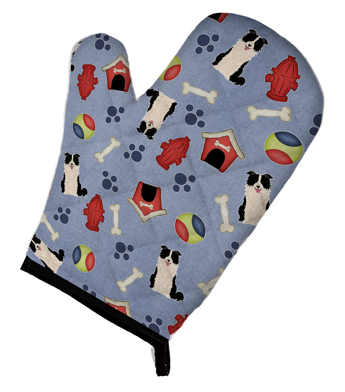Dog House Collection Border Collie Black White Oven Mitt BB2731OVMT by Caroline's Treasures
