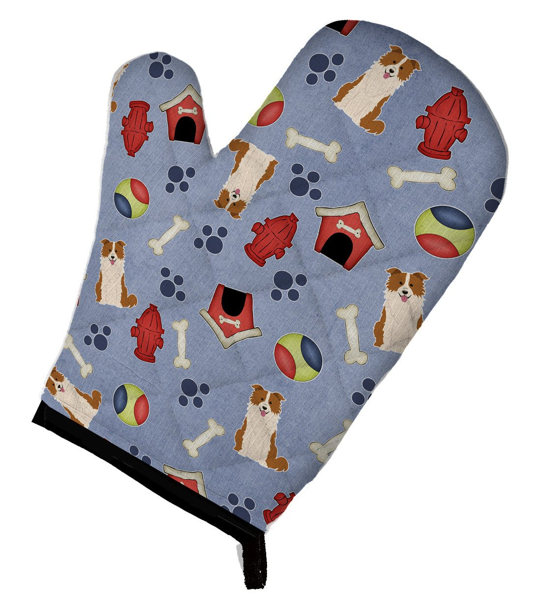 Dog House Collection Border Collie Red White Oven Mitt BB2732OVMT by Caroline's Treasures